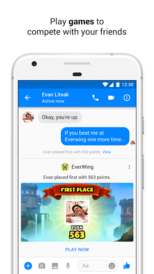 Messenger – Text and Video Chat for Free- screenshot