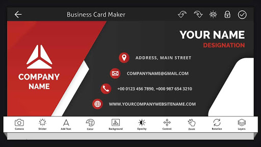 Screenshot for Business Card Maker - Visiting Card Maker in United States Play Store