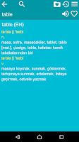 Screenshot of English Turkish Dictionary