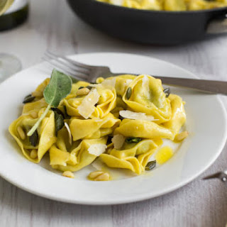 Buttery Tortellini With Sage and Pumpkin Seeds.