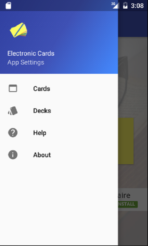 E-Cards Flashcards- screenshot