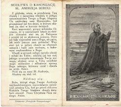 Photo: Obrazek składany o wym. 7 x 12 cm.  Zawiera nowennę i modlitwę o kanonizację.