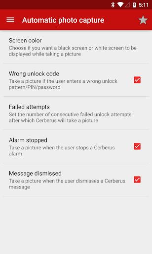Cerberus Phone Security (Antitheft) 3.6 screenshots 2