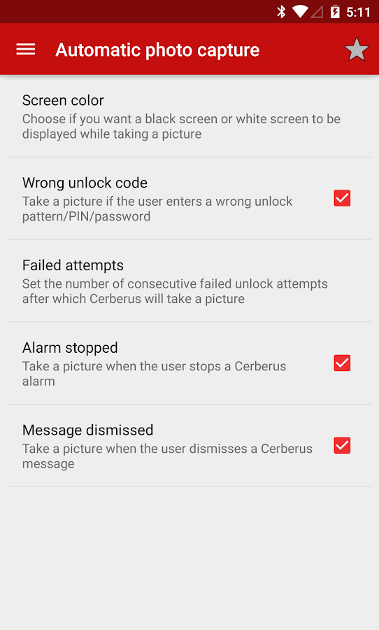 Cerberus anti theft- screenshot