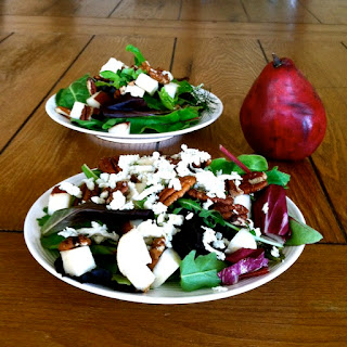 Salted Pecan, Pear, & Gorgonzola Salad