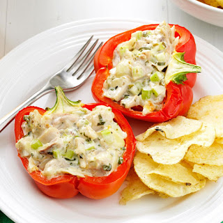 Chicken Salad-Stuffed Peppers.