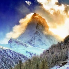 The Great Matterhorn by Monique Sjarief - Landscapes Mountains & Hills