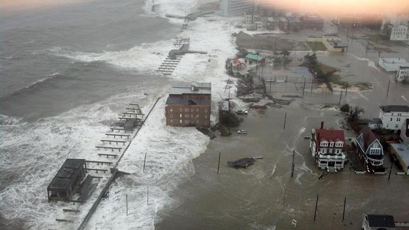 Photo: This photo provided by 6abc Action News shows the Inlet section of Atlantic City, N.J., as Hurricane Sandy makes it approach, Monday Oct. 29, 2012. Sandy made landfall at 8 p.m. near Atlantic City, which was already mostly under water and saw a piece of its world-famous Boardwalk washed away earlier in the day. (AP Photo/6abc Action News, Dann Cuellar)