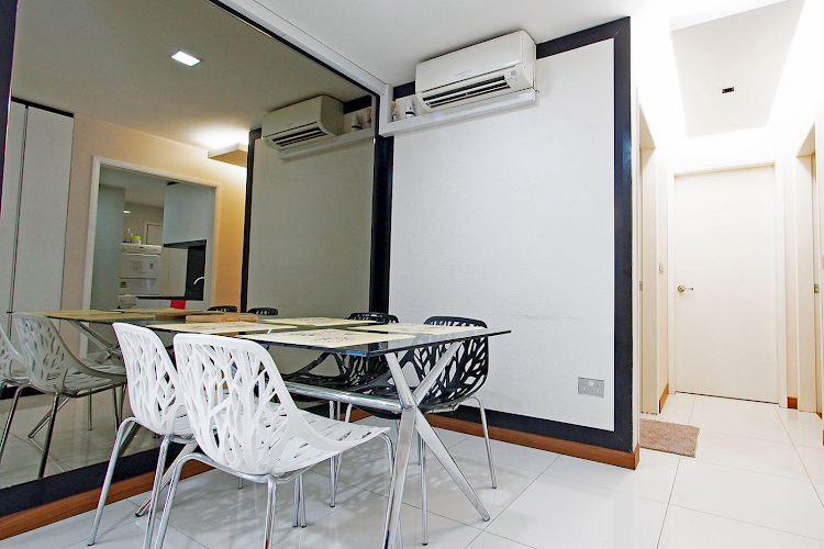Comfy living area at Geylang Apartments