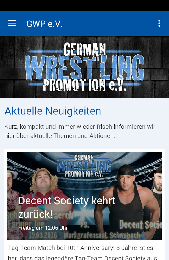 German Wrestling Promotion – Screenshot
