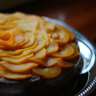 AN IMPROVISED QUARK AND PEACH CAKE