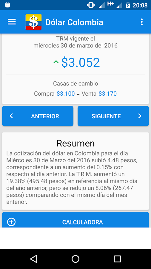 Dollar Colombia- screenshot