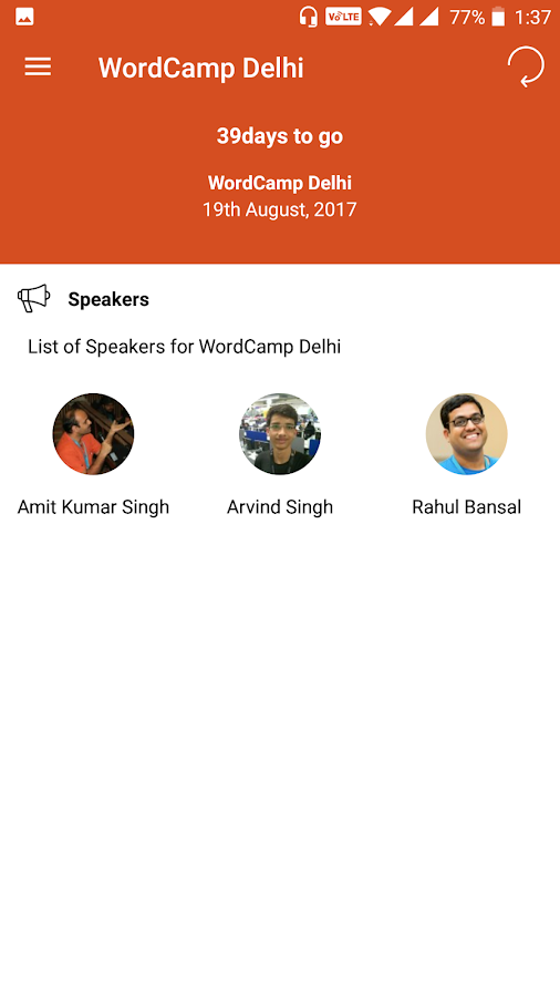 WordCamp Delhi- screenshot