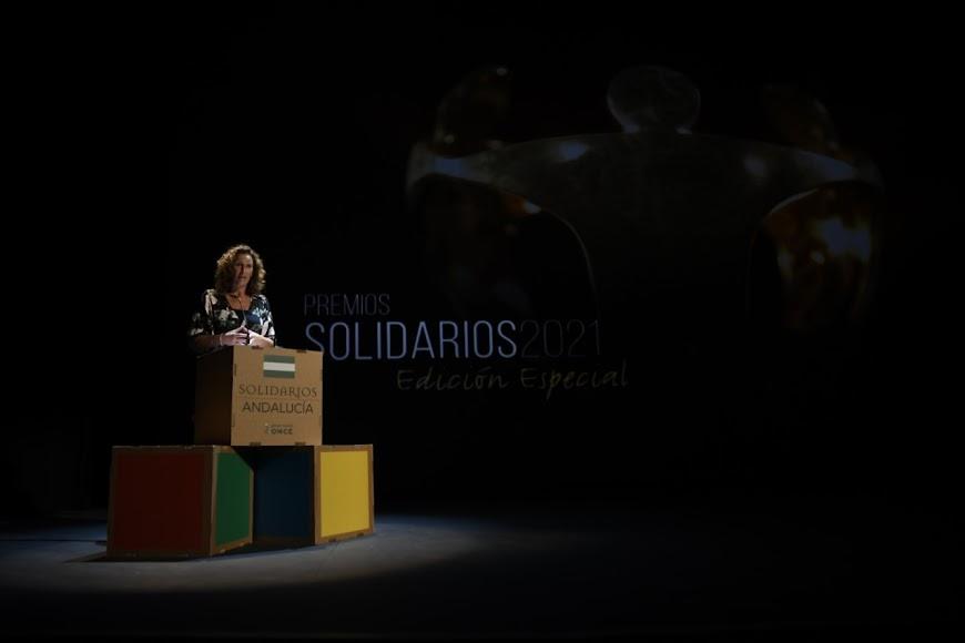 La edil María Vázquez.