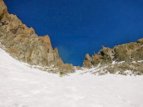 Photo: Diable SW Couloir - We took the branch on skiers left, which was skiable from the col