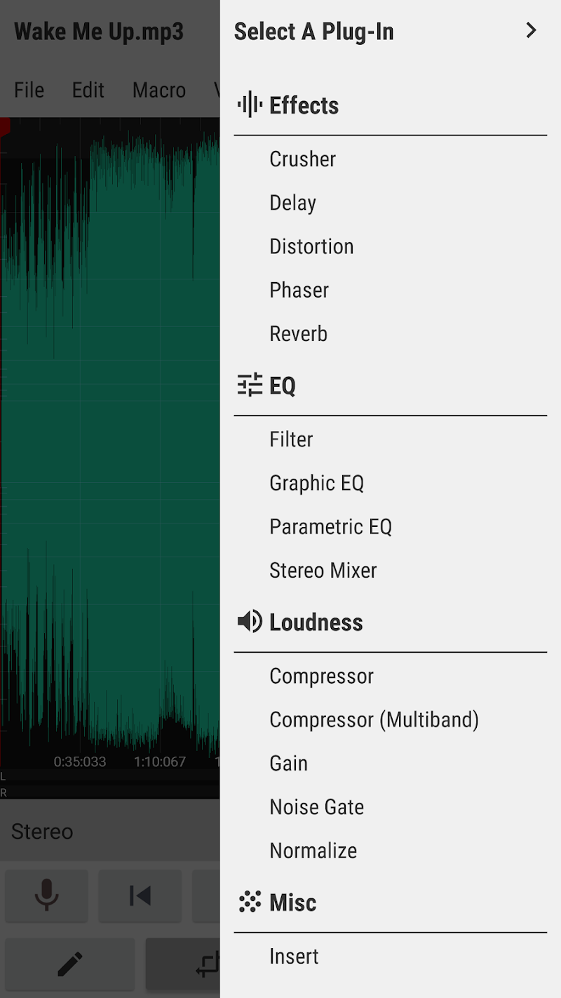 WaveEditor for Android™ Audio Recorder & Editor Screenshot 4