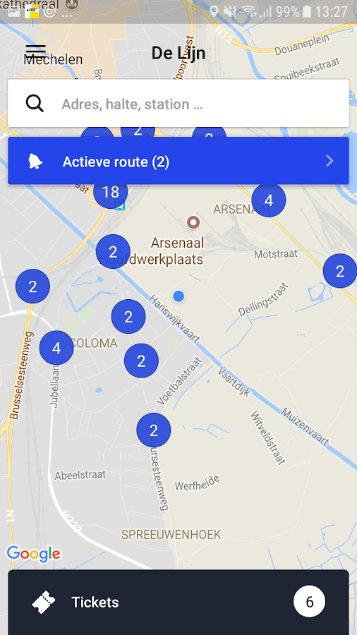 De Lijn- screenshot