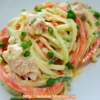 Vegetable Noodles with Tangy Ricotta Sauce