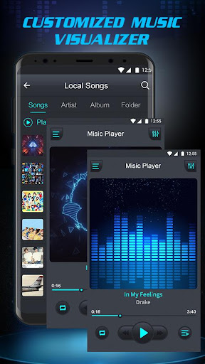 Free Music Player - Equalizer & Bass Booster 1.3 screenshots 3