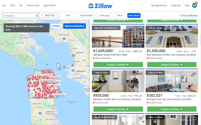 Cashflow Calculator for Zillow/Trulia/Redfin