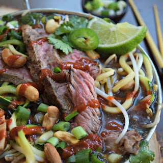 Fast & Fit Steak Pho with Zucchini Noodles.