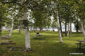 Photo: Visitors enjoy the day at Crystal Lake State Park
