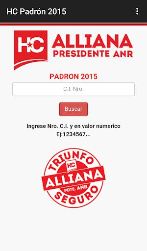 Padrón ANR 2015