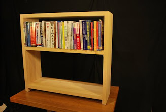 Photo: Sing bookcases are stable and strong thanks to our veneer torsion box construction.