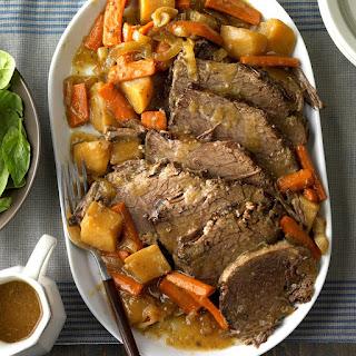 Slow-Cooked Rump Roast.