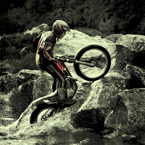 Go For iT by CLINT HUDSON - Transportation Motorcycles ( motorcycle trials, motorbike, trials bike, isle of man trials bike, motorcycle )