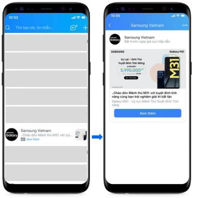 Hình thức quảng cáo Inbox Zalo Ads