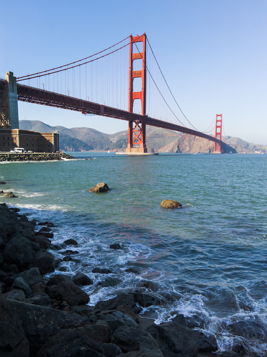 Golden Gate Bridge and Fort Point captured by a Light L16.