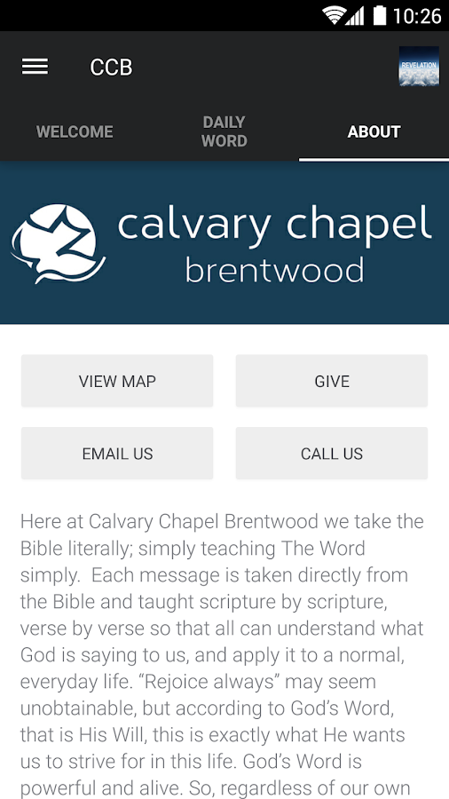 Calvary Chapel Brentwood- screenshot