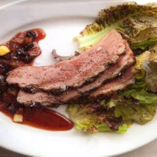 Grilled Duck Breasts with Raisin-Pineapple Sauce.