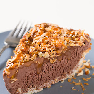 German Chocolate Ice Cream Pie with Gluten Free Breyers Chocolate Ice Cream