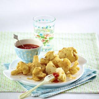 Crispy Cauliflower with Sweet and Sour Sauce.
