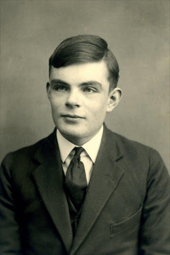 A handout picture released by Sherborne School shows British mathematician Alan Turing at the school in Dorset, southwest England.