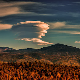 Thoughtful Mountains by Nic Evennett - Landscapes Cloud Formations