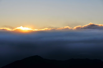 Photo: The sun appears.