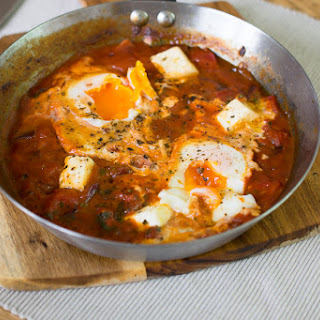 One Pot Eggs with Feta & Peppers