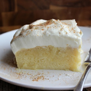 Boozy Eggnog Cake