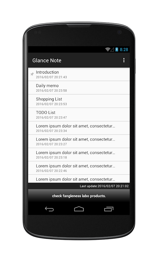 Glance Note for Simplenote- screenshot