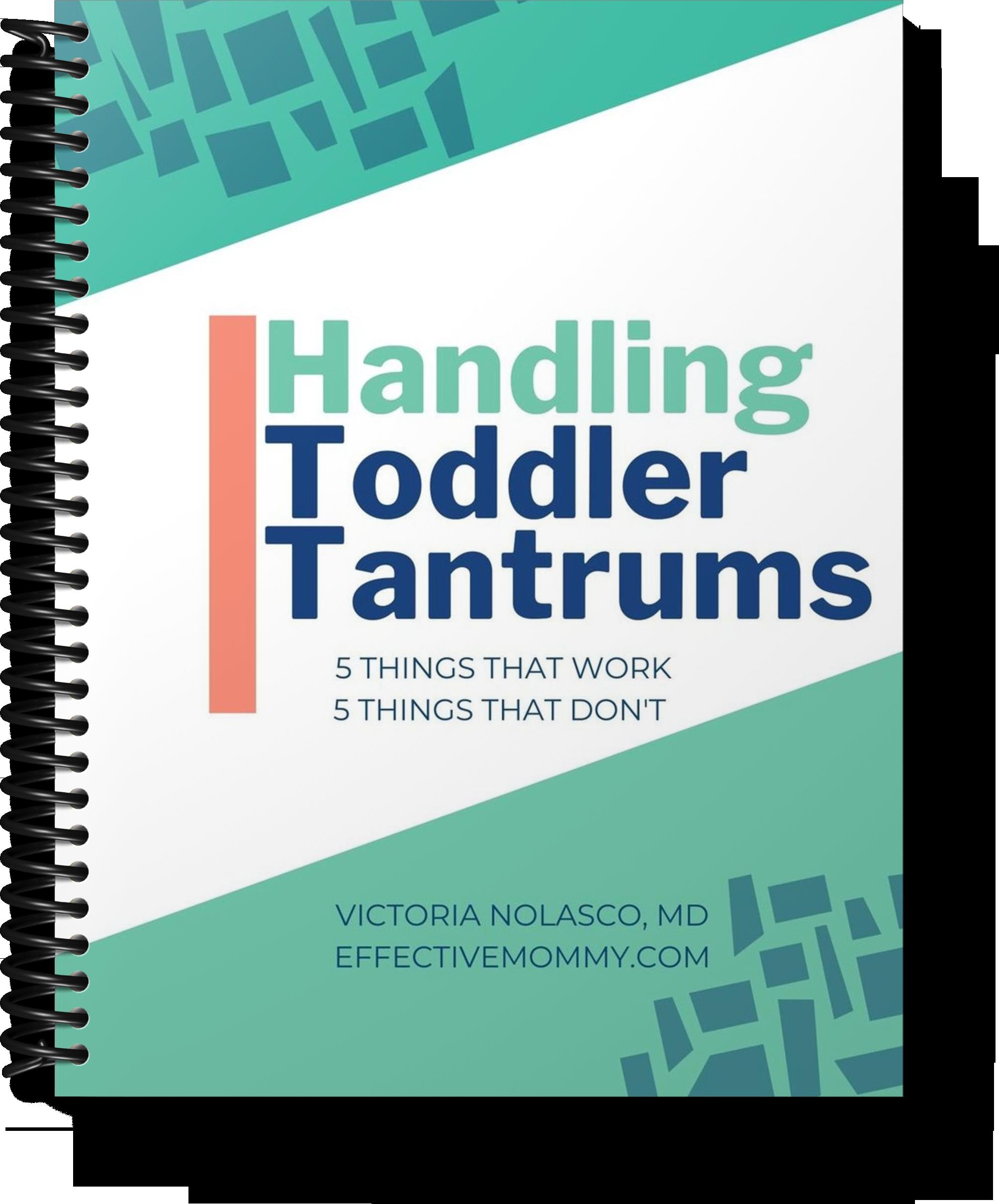 free checklist on handling toddler tantrums