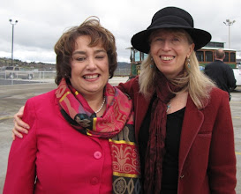 Photo: RVTD General Manager Julie Brown works with Alison Wiley, regional transit coordinator for Oregon Department of Transportation.