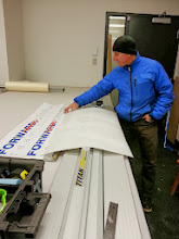 Photo: At the decal printing place getting our new decals for the boat