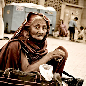 Feel The Story Of Behind This Lady.... by Mussarrat Fatima - People Portraits of Women