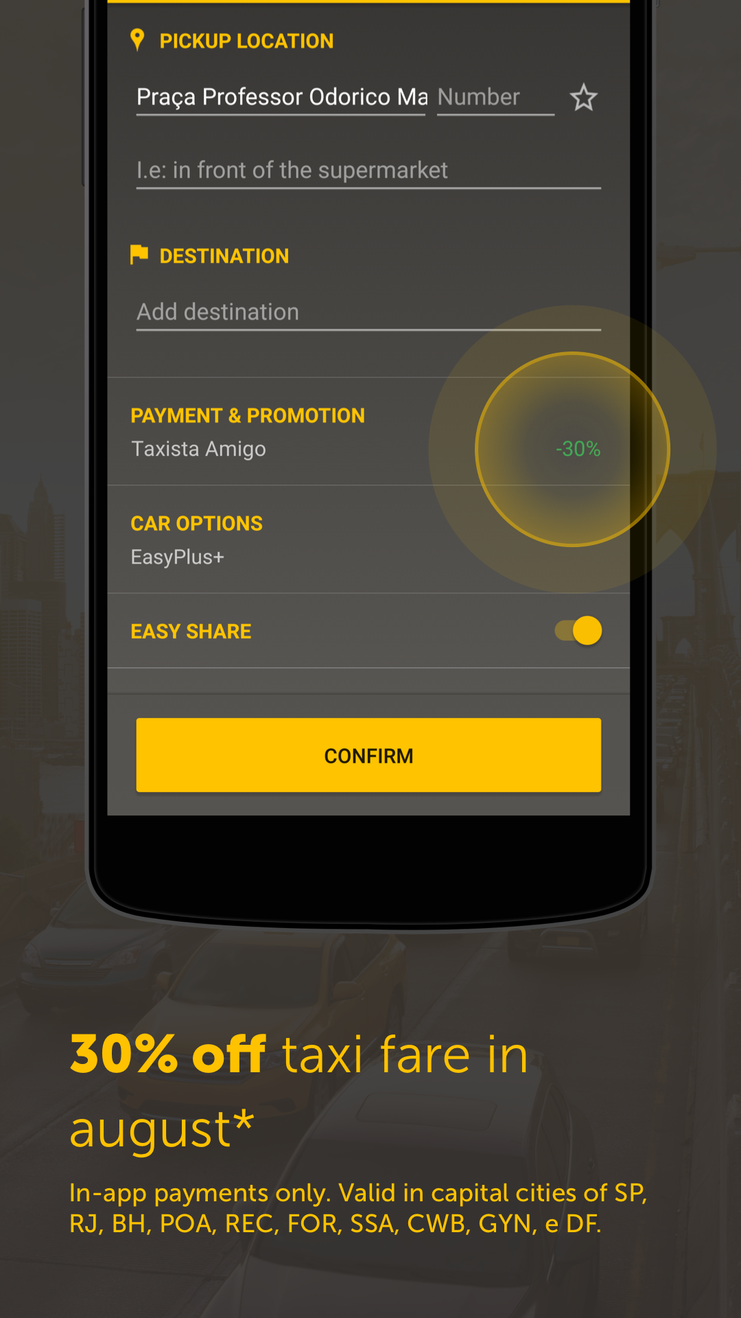 Easy - taxi, car, ridesharing screenshot #6