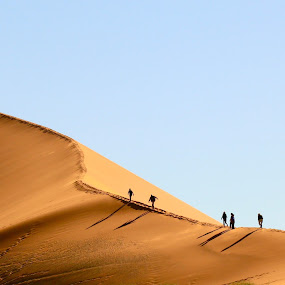 Dawn on the Dune by Cheryl Korff - Landscapes Deserts ( sossusvlei namibia )