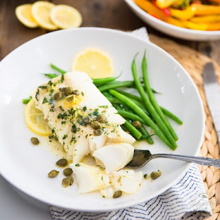 Easy Lemon Caper Baked Cod.