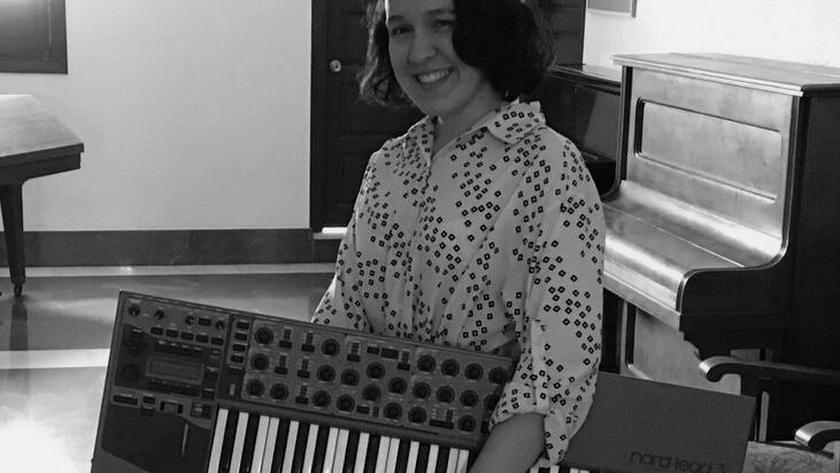 La joven compositora almeriense Pilar Miralles, en una imagen de archivo.